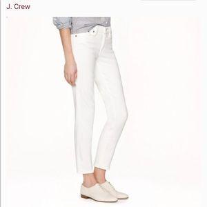 J. Crew Cropped Reid Stretch White Jean size 28